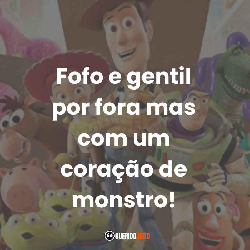 """""""Fofo e gentil por fora mas com um coração de monstro!"""" Frases Toy Story 3 tumblr"""