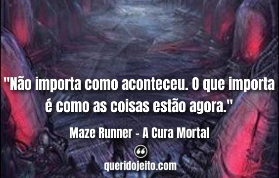 Frases Maze Runner - A Cura Mortal Livro, James Dashner Frases, Frases da trilogia Maze Runner,