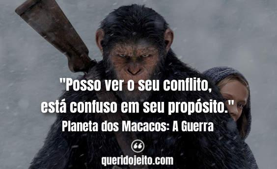 Legendas Planeta dos Macacos: A Guerra, Frases Coronel,