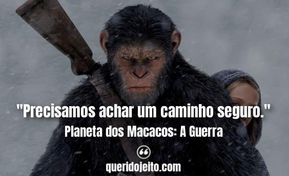 Status Planeta dos Macacos: A Guerra, Frases de Ficção,