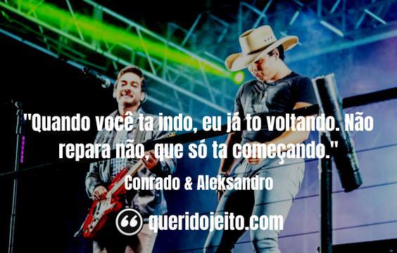 Frases Conrado & Aleksandro facebook, Status Conrado & Aleksandro,