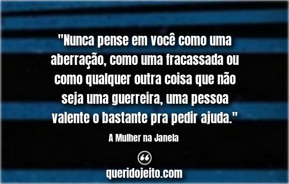 Frases Livro A Mulher na Janela Facebook.