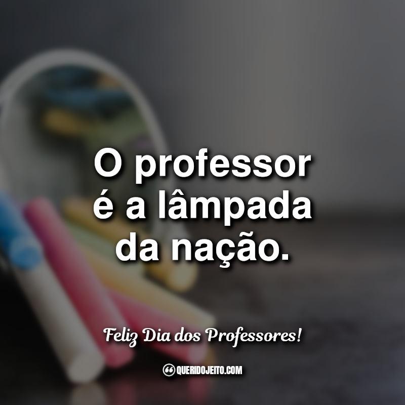 O professor é a lâmpada.