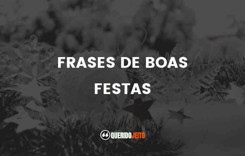 FRASES DE BOAS FESTAS