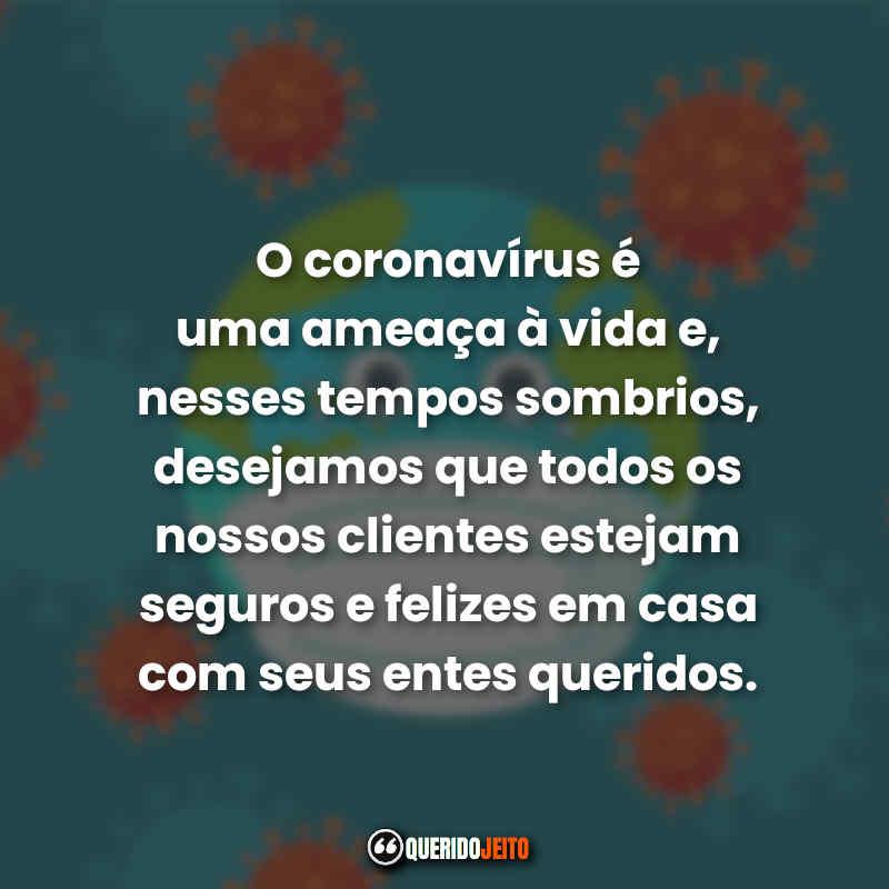Frases para clientes Coronavírus.