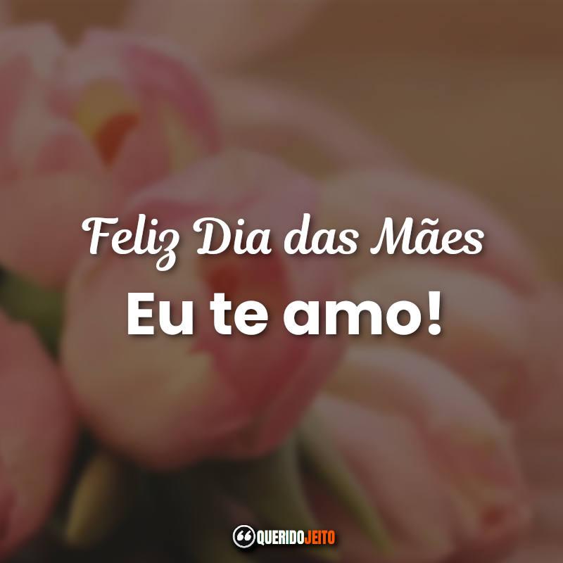 Feliz Dia das Mães! Eu te amo! Dia das Mães Frases.