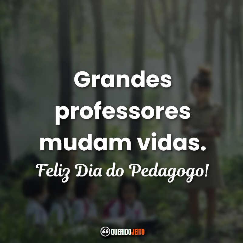 Grandes professores mudam vidas.