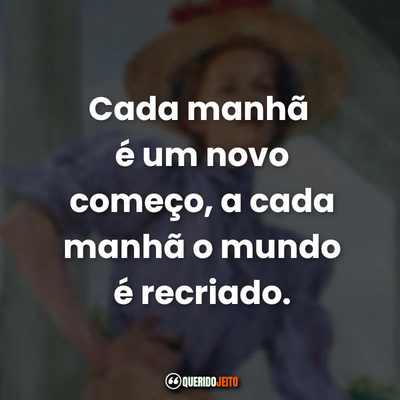 Frases Anne With an e Livro.