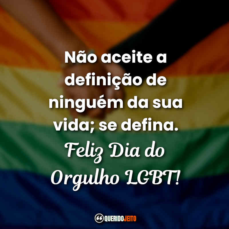 Frases Dia do Orgulho LGBT Tumblr.