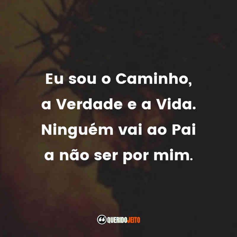 """""""Eu sou o Caminho, a Verdade e a Vida. Ninguém vai ao Pai a não ser por mim."""" A Paixão de Cristo Frases"""